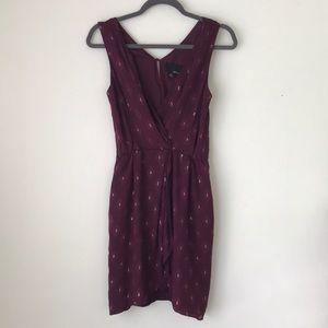 Anthropologie Greylin Faux Wrap Silk Dress